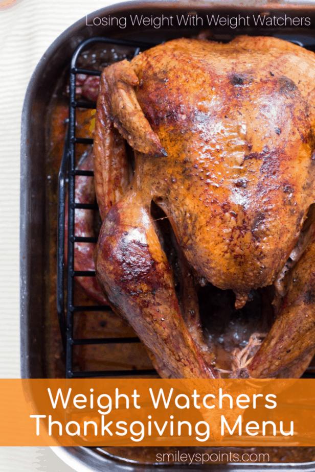 weight watchers thanksgiving menu