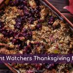 weight watchers thanksgiving plan