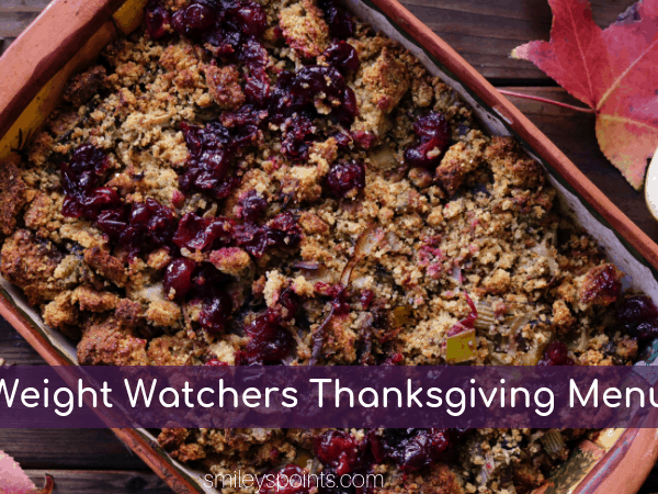 Weight Watchers Friendly Thanksgiving Plan