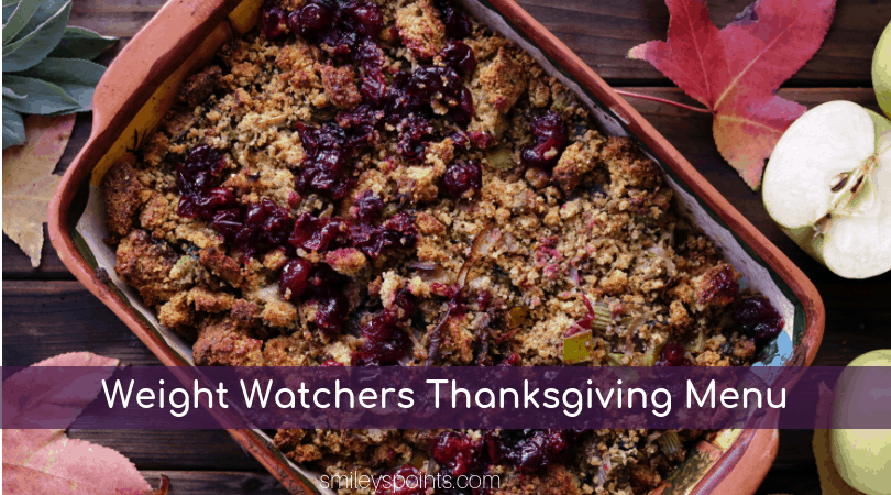 weight watchers thanksgiving plan