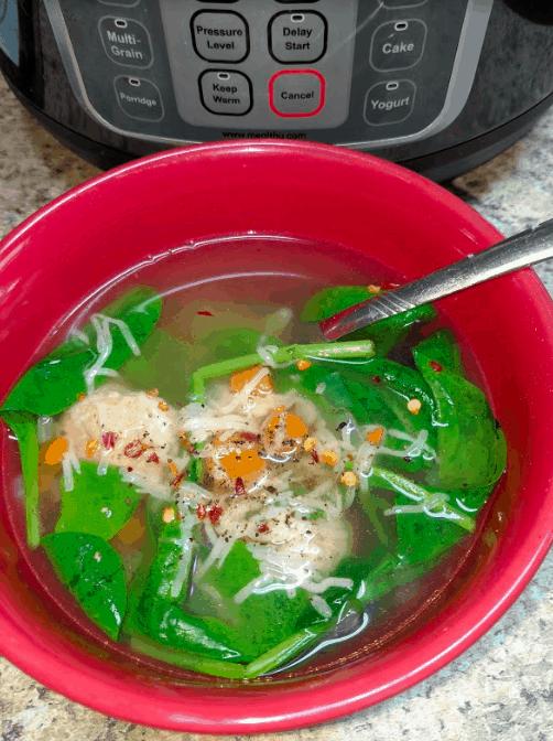 instant pot turkey meatball soup