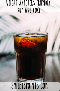 Weight Watchers Friendly Rum and Coke
