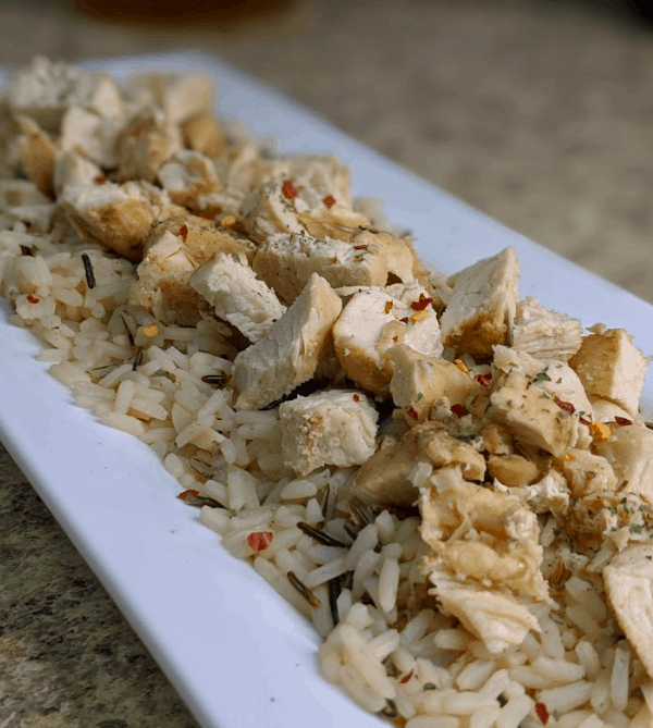 instant pot saucy chicken and rice