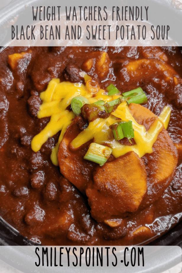 _Weight Watchers Friendly Black Bean and Sweet Potato Soup