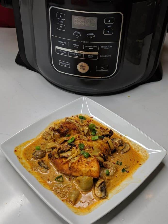 Chicken and Mushrooms with Artichokes