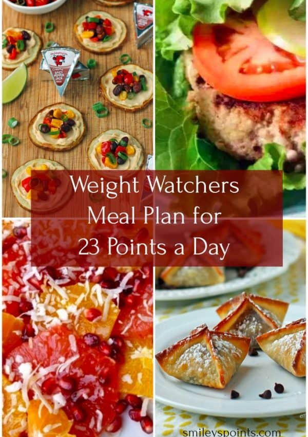 Weight Watchers Meal Plan for 23 Points a Day (Week #1)
