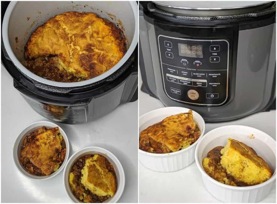 easy cornbread chili casserole ninja foodi