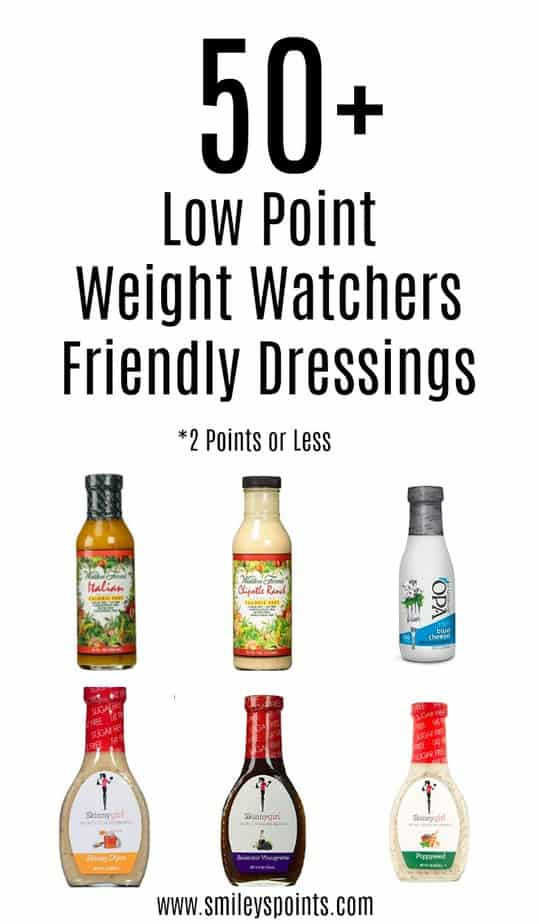 low point weight watchers dressings