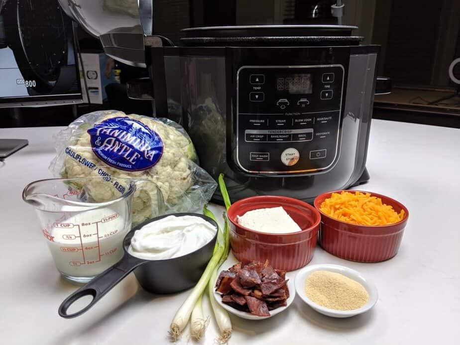 Cauliflower Casserole ingredients