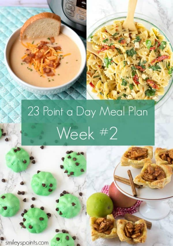 Weight Watchers Meal Plan for 23 Freestyle SmartPoints (Week #2)
