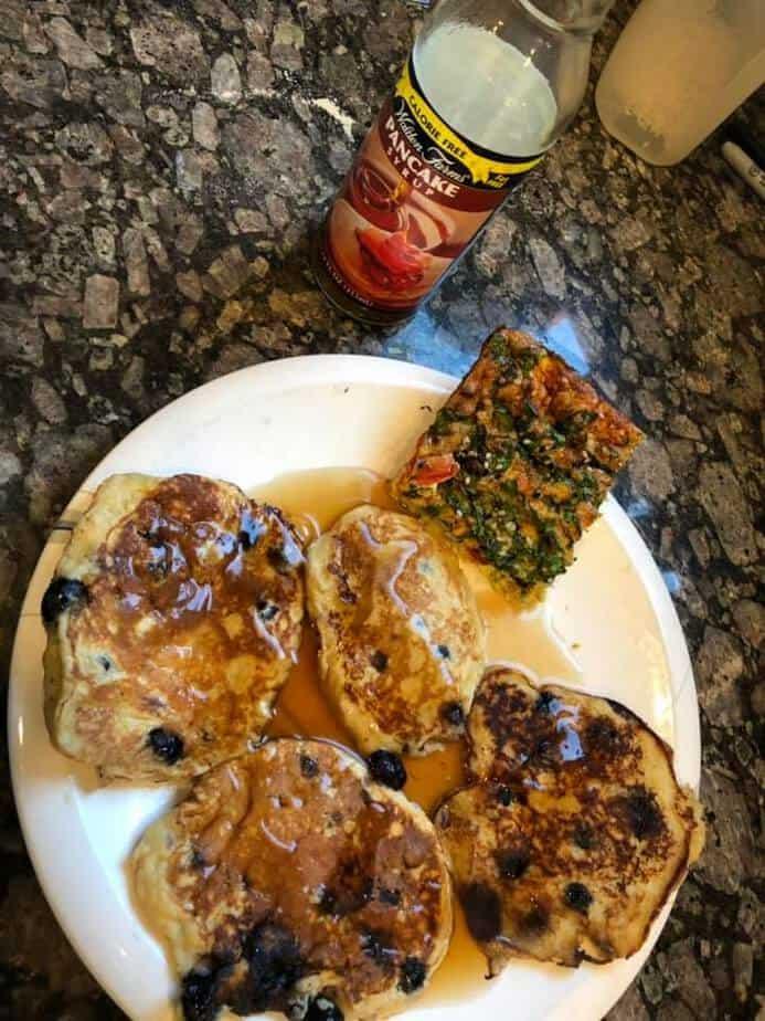 Pancakes and Egg Bake