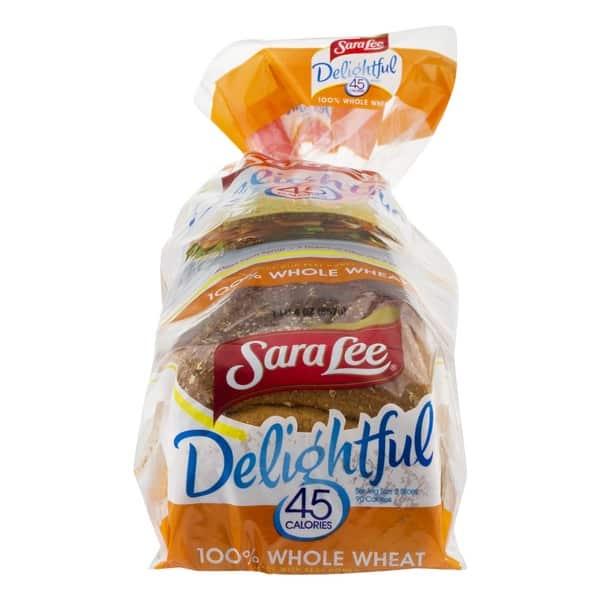 Sara Lee 45 calorie bread and delightful