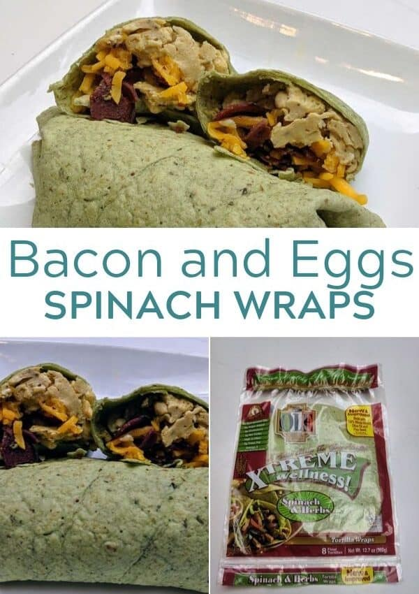 Egg and Bacon Spinach Wrap