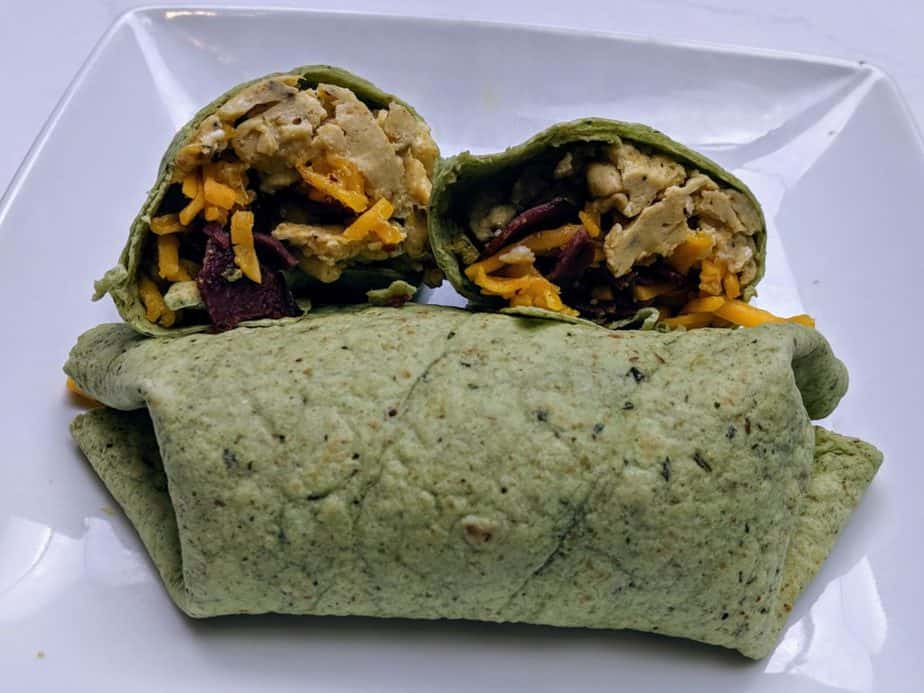 Egg-and-Bacon-Spinach-Wrap