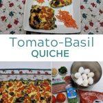 Tomato Basil Quiche Collage