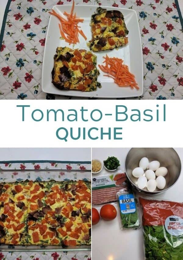 Tomato Basil Quiche Collage