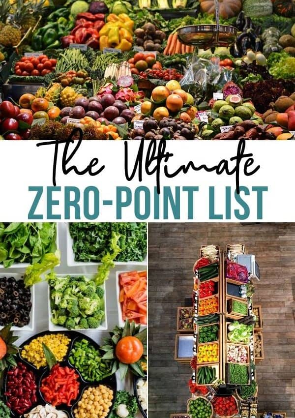 Zero Point Food List With Serving Sizes, Calories, and Carbs