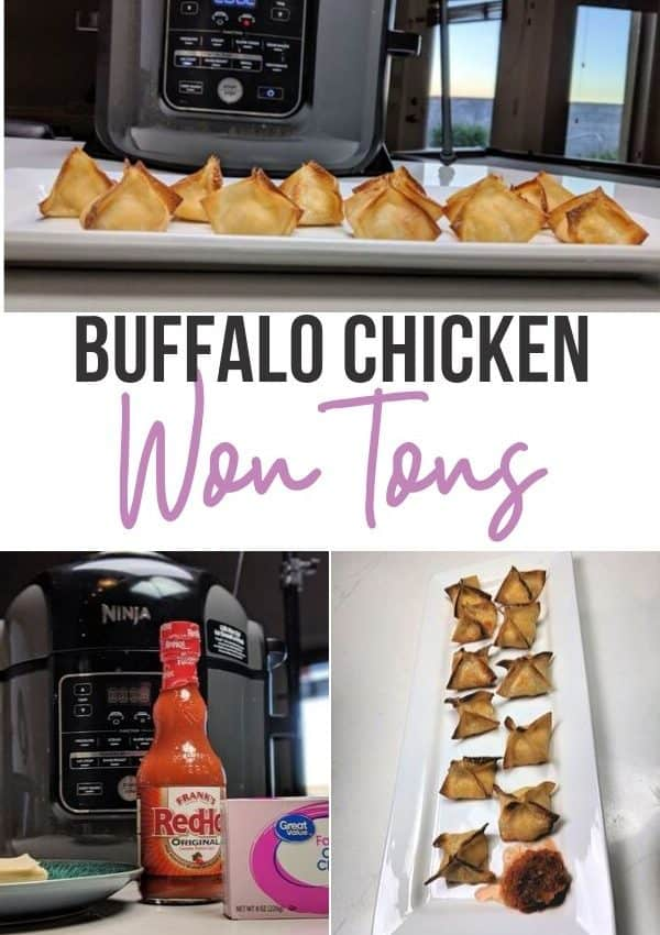 Buffalo Chicken Wontons Collage