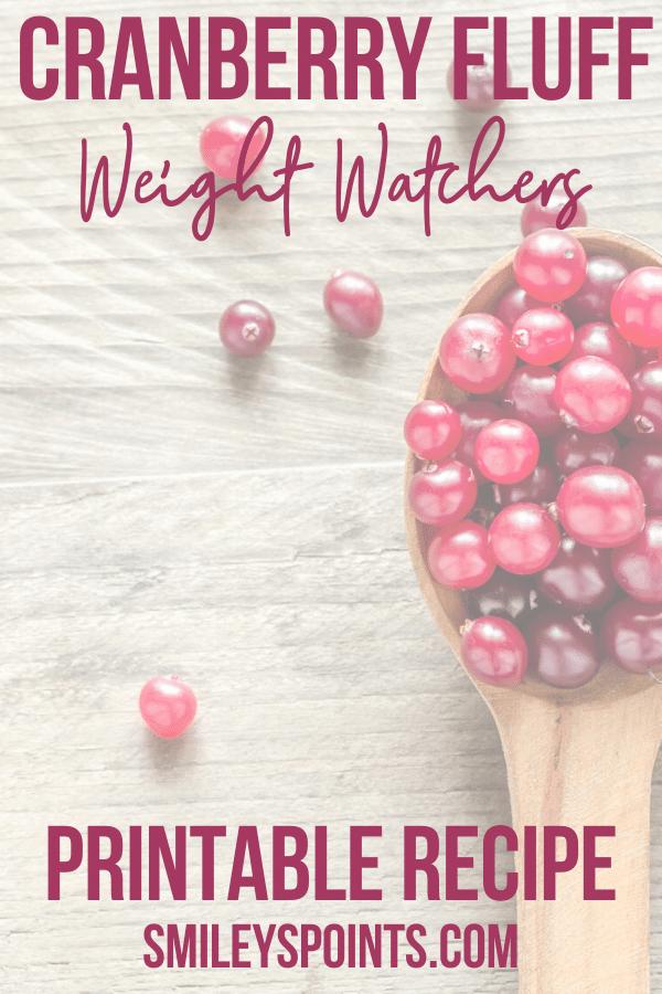 healthy cranberry fluff recipe