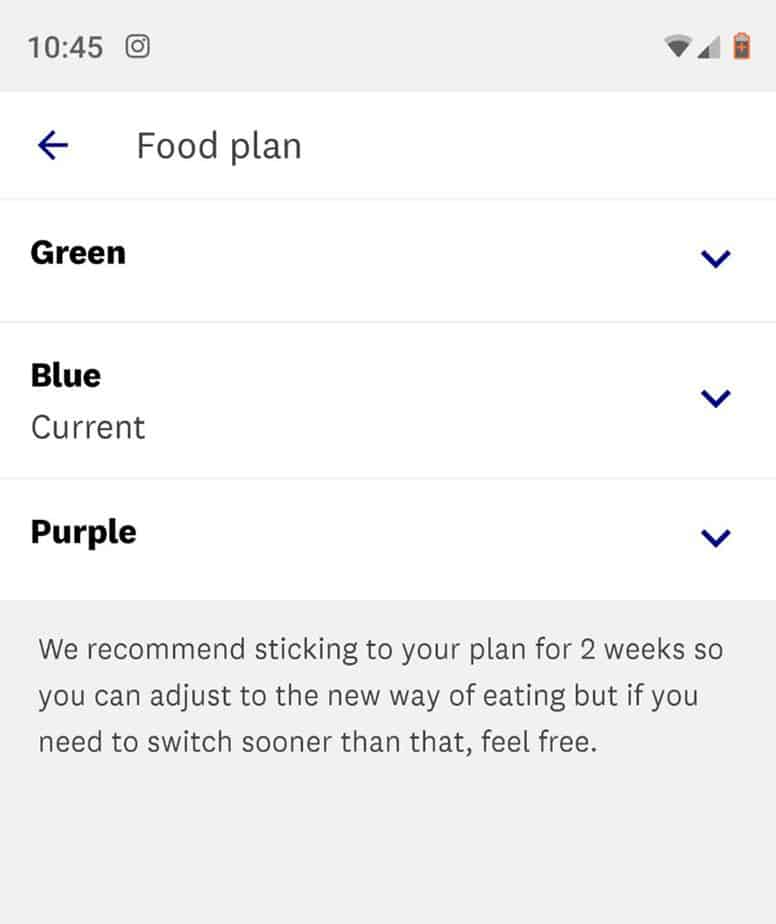 how to change weight watchers plans in the app