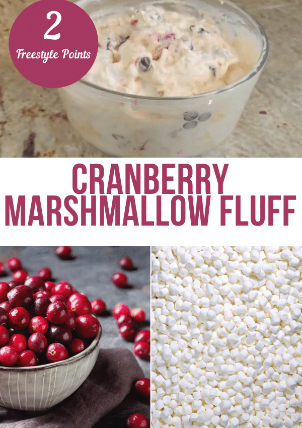 Cranberry Marshmallow Fluff – 2 Point Weight Watchers Dessert