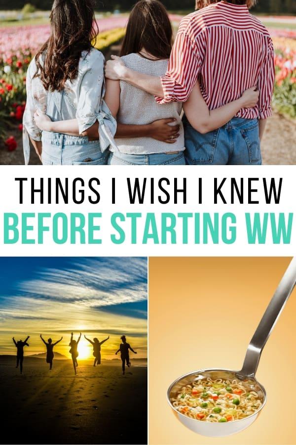 Things I wish I knew before starting WW