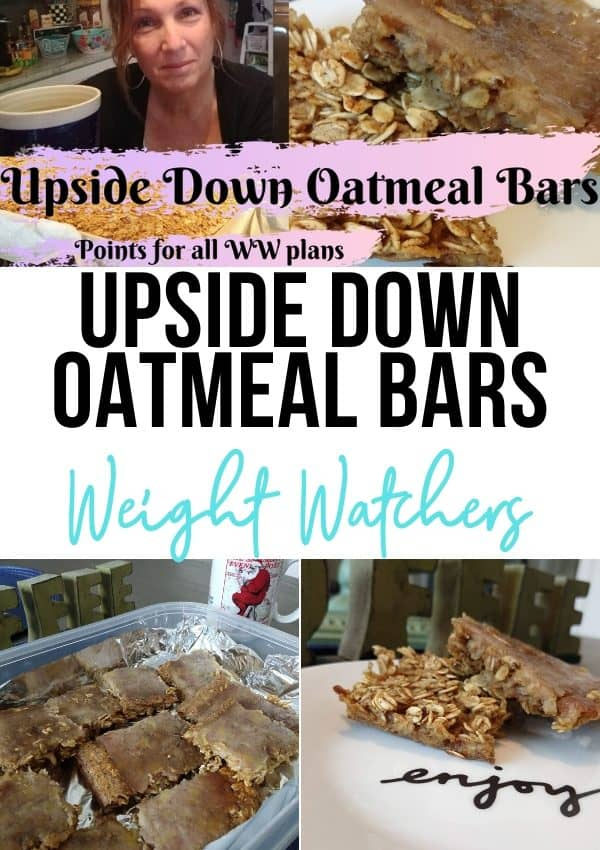 Upside Down Banana Oatmeal Bar
