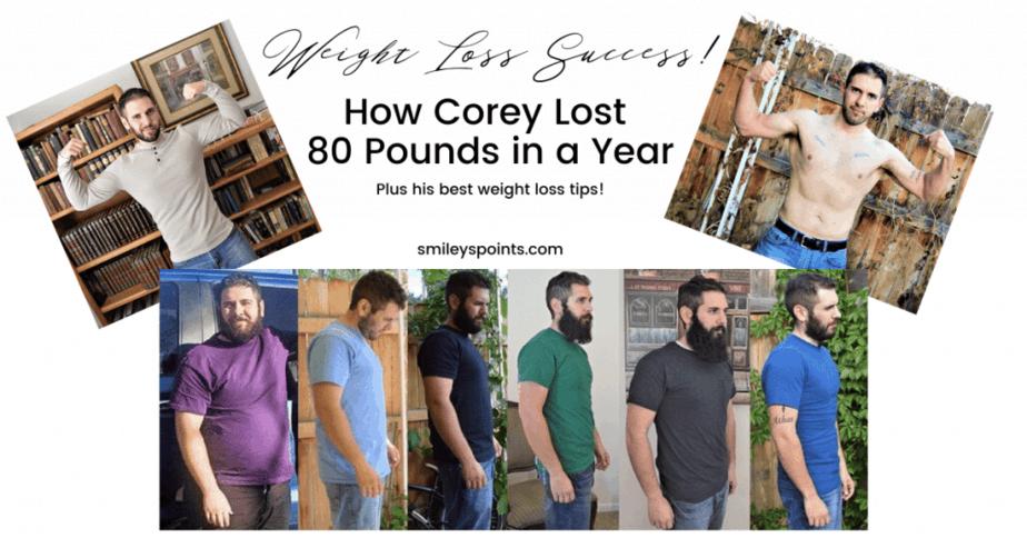 weight loss success corey bustos