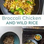 Broccoli Chicken and Wild Rice Skillet