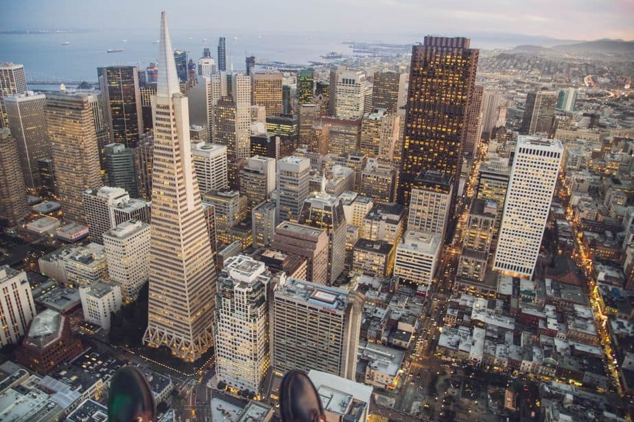 San Francisco aerial view of the city