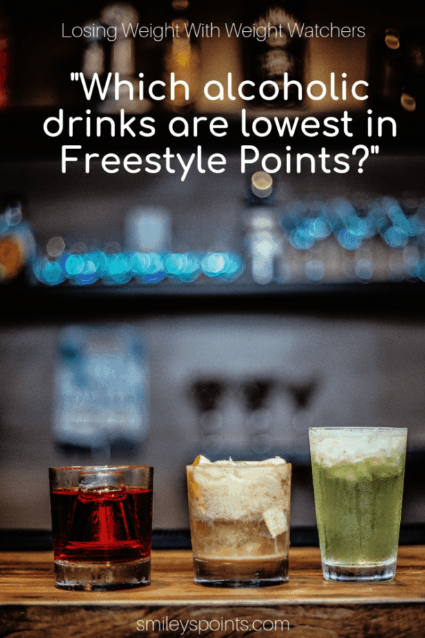 3 low point alcoholic drinks on a bar