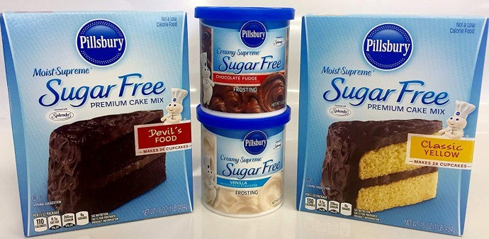 Pillsbury Sugar free Cake Mix and Sugar Free Frosting
