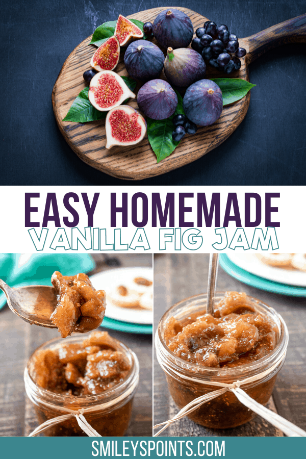 Easy Homemade Vanilla Fig Jam, figs on a board, collage