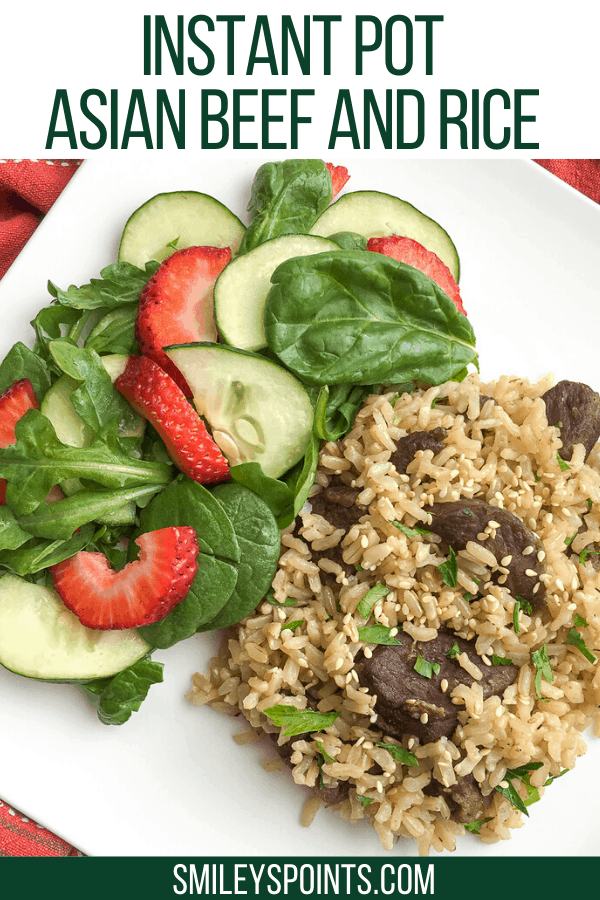 Instant Pot Asian Beef and Rice