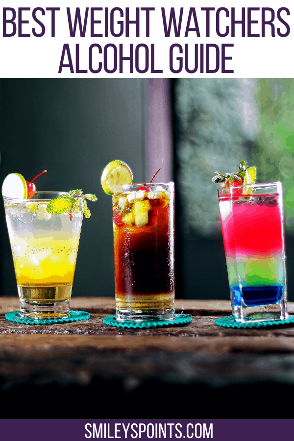 weight watchers alcohol drinks