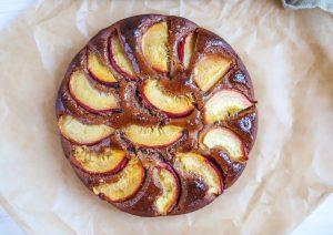 Almond peach cake