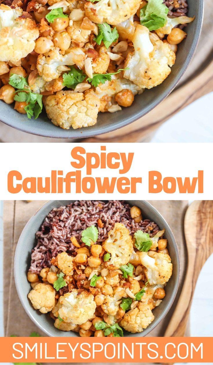 spicy cauliflower bowl
