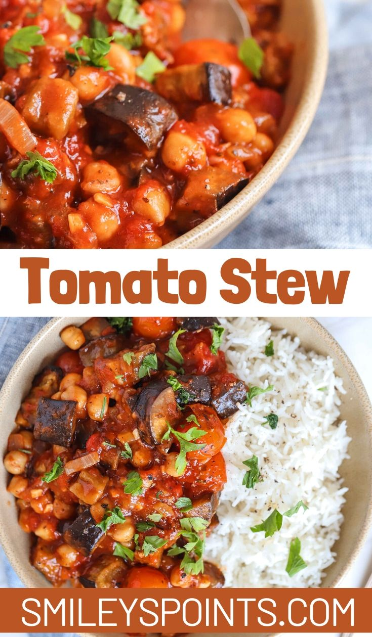 collage of tomato stew