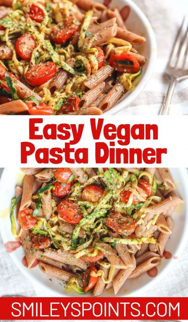 Brown Rice Pasta with Parmesan Garlic Zucchini