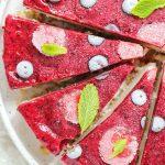 Vegan Lemon Berry Cheesecake