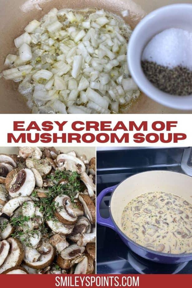 bowl of cream of mushroom soup