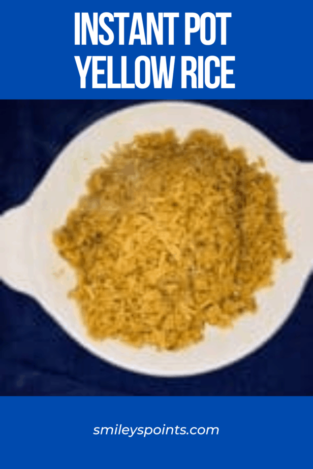 Instant Pot Yellow Rice