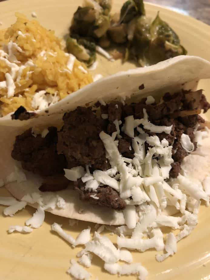 Steak and Onion Tacos