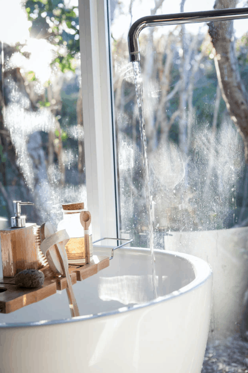 self care plan - bath with running water